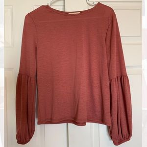 Puff Sleeve Cropped Blouse